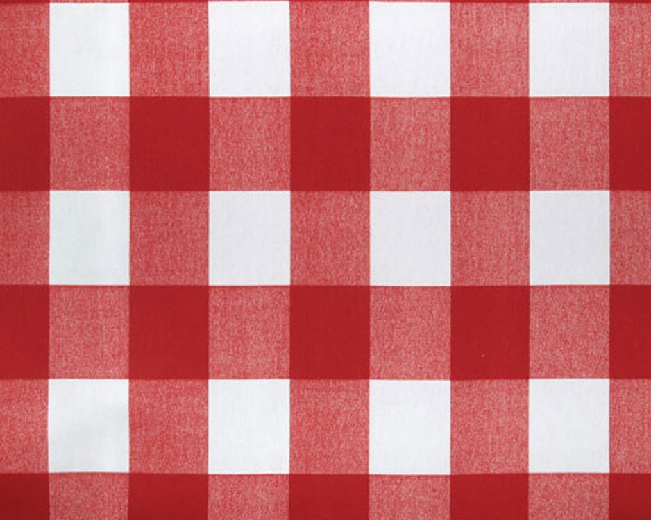 red and white buffalo check fabric