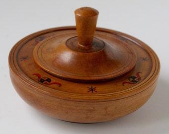 Vintage Handmade Wooden Catchall Box