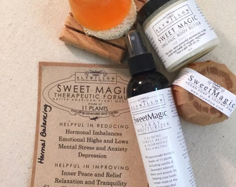 SWEET MAGIC Therapeutic Plant Formula || soaps & moisturizers made of plants || helps increase your happy hormones || 100% Vegan
