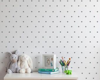 Little Stars Wall Decals. Nursery stars wall stickers. Small Star Wall Decals. Children stars .