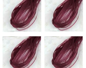 20 yd Dark Red Organza Ribbon-3mm