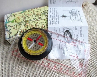 Liquid Filled Compass with Instructions