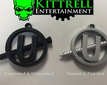 Ghostbusters inspired Holtzmann's Screw U necklace pendant. Show the world you ain't afraid of no ghost! Cosplay & halloween costuming
