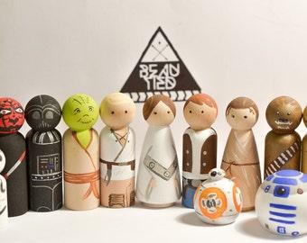 Star Wars Peg Doll Set of 8