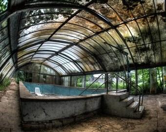 Abandoned Swimming Pool UK 1 of 5 signed ltd run print.