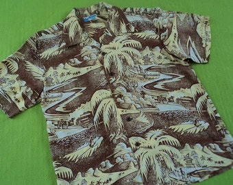 1950s Rockabilly Aloha Hawaiian Shirt John Severson Sun Surf Japan NWT M-L