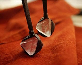 Natural fluorite pendant pendant couple necklace