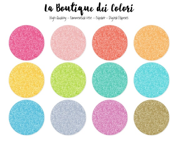 Colorful Glitter Circles Clipart, Cute Circle Clip art ...