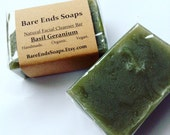 Basil & Geranium with French Green Clay Facial Cleansing Bar Soap