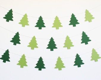 Christmas Tree Party Banner - Customizable Colors