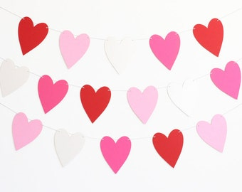 Valentine Heart Party Banner - Customizable Colors