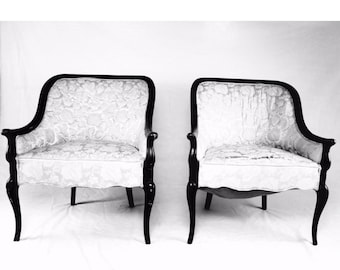 You decide!- pair of french barrel chairs tub chairs