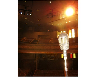 Grand Ole Opry Art, Ryman Auditorium Art, Nashville Photography, Music Art, Country Music Decor, Microphone Art Print, Johnny Cash