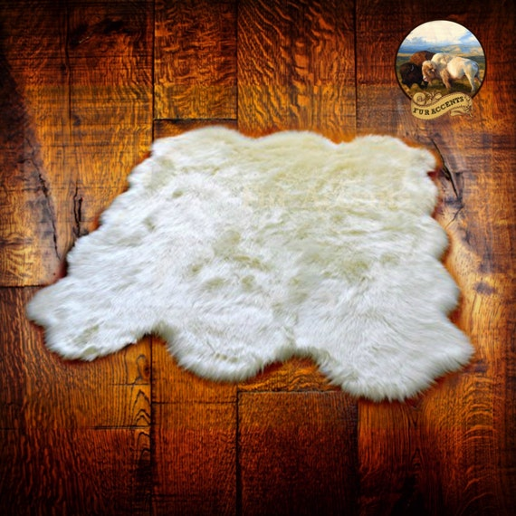 Shaggy Faux Fur Area Throw Rug Classic Multi Pelt Octo
