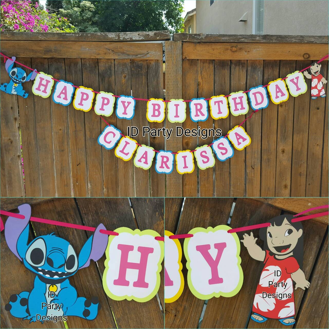 Lilo And Stitch Birthday Banner Lilo And Stitch Baby: LILO AND STITCH Banner Centerpiece High Chair Banner Cupcake