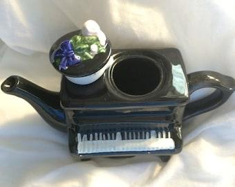 Vintage Piano Tea Pot