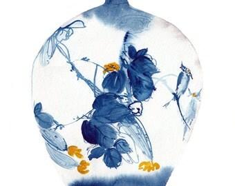 Chinese vase 2 watercolour original