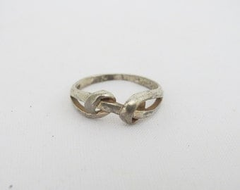 Vintage Sterling Silver Twisted Band Ring Size 9.75