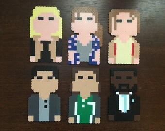 Fear the Walking Dead magnets|handmade|choose1|fear the walking dead ornaments|walking dead party favors|walking dead|perler beads|zombies
