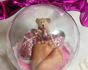 "The Pitter-Patter of tiny feet 5 1/2"" Keepsake Ornament"