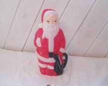 Plastic Santa Clause with light, vintage lighted  Santa Clause, vintage Christmas decor, 1968