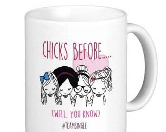 Best friend Single Ladies Anti Valentine Mug
