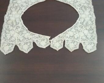 Vintage Ecru Lace Collar  #8