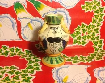 Vintage hand painted ceramic vase- Japan