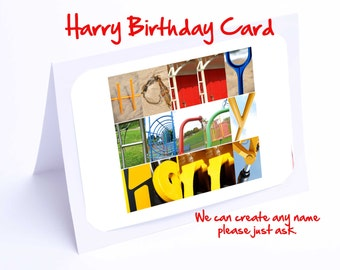 Harry Personalised Birthday Card
