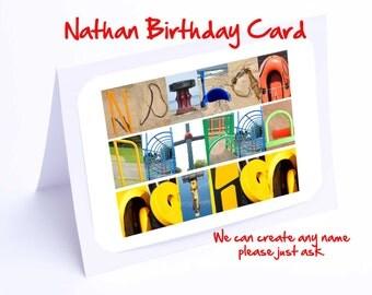 Nathan Personalised Birthday Card