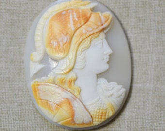 Antique Victorian Hand Carved Shell Cameo