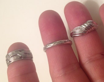 SUPER jewelry Sale: QUALITY Vintage Rings -Lot of Three Unique Vintage Rings -Vintage Sterling Silver Ring -Vintage STERLING Silver Rings