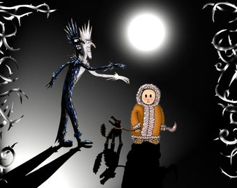 EVIL JACK FROST - winter gothic folklore legends A4 art print by Morien Wyn Jones