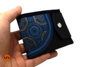 Curve, Mandala, Handmade  Personalized Wallet, Vegan Friendly, Vegan Leather Wallet, Mens Leather Wallet, Womens Leather Wallet, UNUSUAL