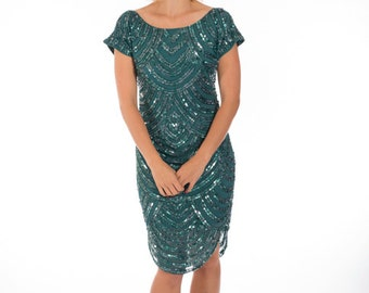 Simone Dress Teal Green