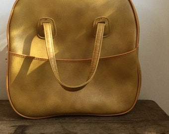 Retro Yellow Travel Bag