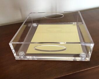 SALE - Acrylic Tray - Lucite Tray - Acrylic Jewelry Tray - Blank Lucite Tray - Engraved Acrylic Tray - Monogrammed Tray