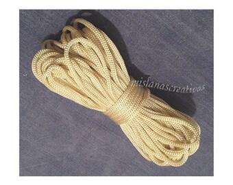 Cordon de macramé. Corde en polypropylène, 4mm-Ivoire couleur, tricoté cordon, noeud macramé, macramé plante cintre. 26 yards (24 m)