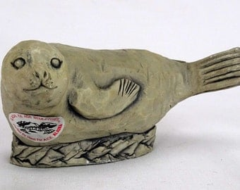 Vintage Seal Figurine Glacial Ice Sculpture FREE SHIPPING