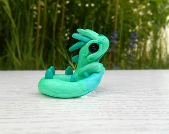 Dragon figure Polymer Clay handmade dragon figurine deco dragon sculpture