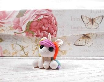 Unicorn charm kawaii unicorn pendant necklace pendant polymer clay unicorn figure handmade