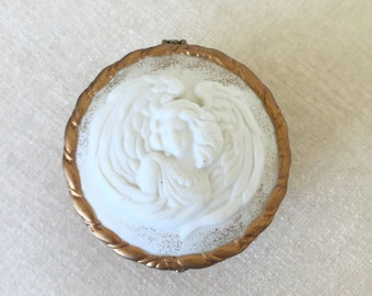 CLEARANCE SALE Angel porcelain trinket box