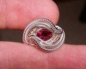 Size 7.75 Garnet Ring