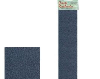"""Leather 10"""" x 2"""" Strip, 1 Piece, Blue For create Jewelry Wa 540-102"""