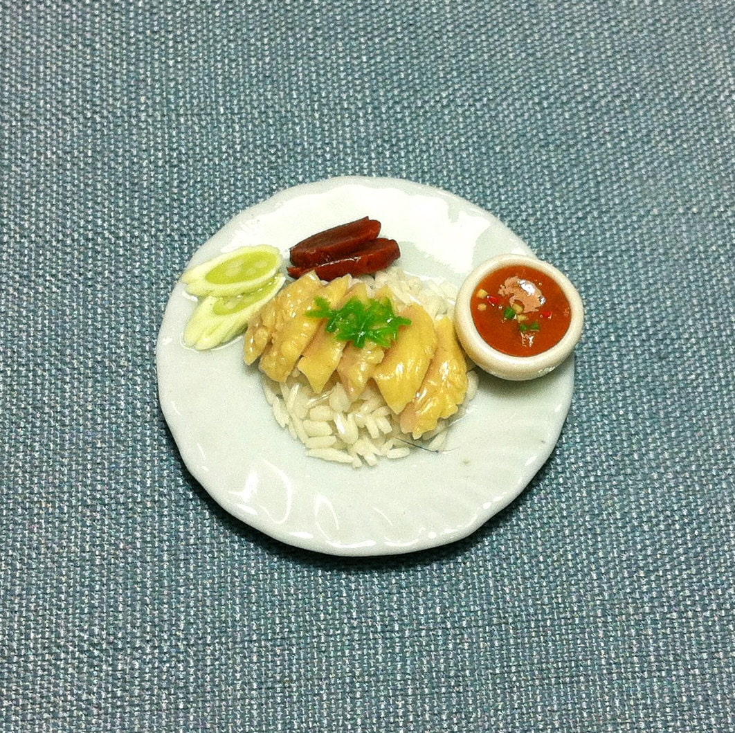 Chicken rice miniature clay polymer food by thaicraftvillage for Polymere cuisine