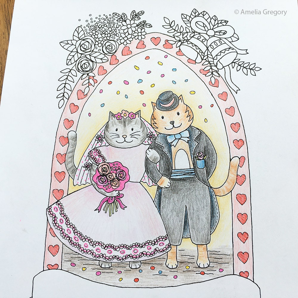 Coloring Pages for Adults Wedding Gift Unique Wedding Gift
