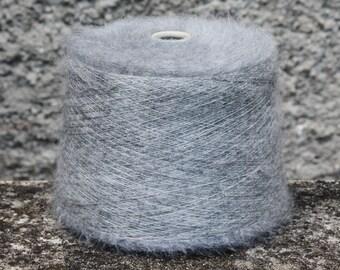 mohair/silk yarn on cone, per 50g