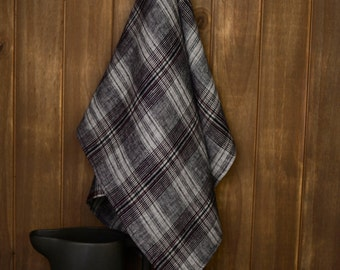 Plaid Linen Tea Towel
