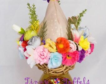 SALE Flower pixie hat, newborn photography prop, UK seller, accessoir photo, newborn flower hat, pixie flower hat, girl photo prop
