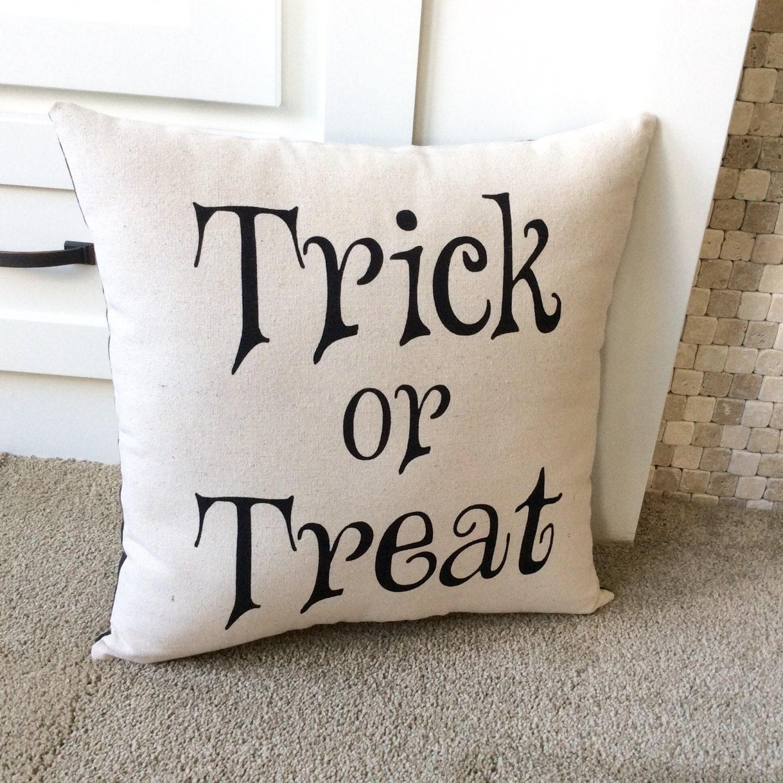 Cute Pillow Treats : Halloween Pillows Trick or Treat Halloween Decor Cute Fall